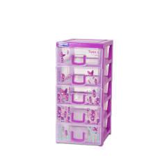 Tủ nhựa Duy Tân TOMI S 5 tầng -Kích thước 15.5 x 19 x 34 cm