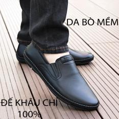(VIDEO THẬT) Giày Lười Nam Da Bò Kiểu Dáng Hàn Quốc Hàng Xuất Khẩu