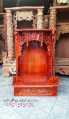Bàn thờ thần tài gỗ xoan Màu đỏ KT 38CM X 55CM