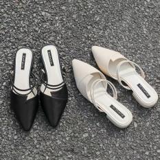 FREE SHIP sandal nữ mũi nhọn đi được 3 kiểu cực đẹp đế 3f