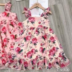 váy hoa lụa cho bé 9-19kg