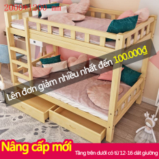Giường tầng gỗ mộc giường đôi cao thấp trẻ em người lớn căn hộ nhỏ, ký túc xá, phòng trọ Redepshop