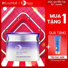 [TẶNG NƯỚC CÂN BẰNG TRỊ GIÁ 339K] Mặt nạ ngủ dưỡng da Bio-Bounce Collagen Night Mask Bio-essence 50g