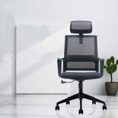 Ghế xoay văn phòng tựa đầu dòng cao cấp, kiểu dáng sang trọng hiện đại, chống ê mỏi cổ và cột sống
