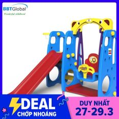 Cầu trượt xích đu Hàn Quốc 4 trong 1 TB201A – cầu trượt, đồ chơi trẻ em, do choi tre em