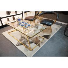 Bàn sofa – bàn trà – bàn cafe- Bàn mặt kính cao cấp độc đáo , Bàn decor trang trí phòng khách , quán cafe, nhà hàng, sảnh, showroom DH-BQC009