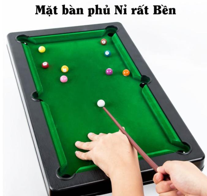 [LOẠI XỊN] MẶT NỈ, ĐÓNG HỘP, Bộ bàn bi a mini, Bộ bàn Bi a mini 2 gậy, Bàn chơi bi da 6 lỗ, đồ chơi 6 lỗ mini cho bé vui chơi bia đồ – Niki Store
