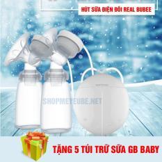 [ Tặng 5 túi trữ sữa ] Máy hút sữa điện đôi Real Bubee