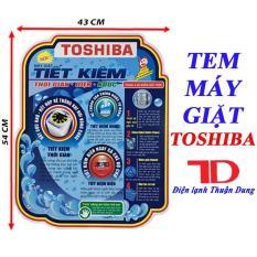Tem dán máy giặt TOSHIBA – tặng kèm băng keo 2 mặt