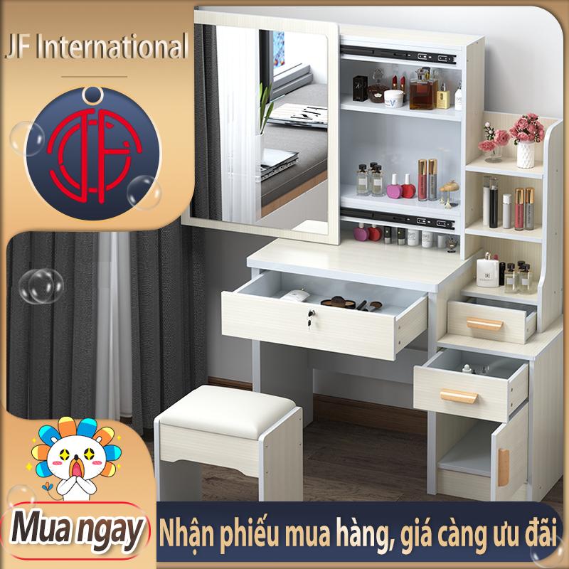 [HCM]Bàn trang điểm bắc âu ngăn kéo lệch,thời trang đơn giản hiện đại tủ lưu trữ đa năng Bàn trang điểm đơn giản bằng gỗ