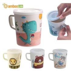 Cốc uống nước cho bé sợi tre hình thú Bamboo Life BBL7064 an toàn cho bé phong cách châu âu