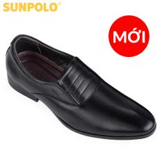 Giày Tây Nam Da Bò SUNPOLO SPH342 (Đen)