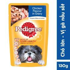 Thức ăn chó Pedigree vị gà nấu sốt 130g
