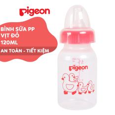 Bình sữa cổ hẹp PP tiêu chuẩn Vịt đỏ Pigeon 120ml (S)