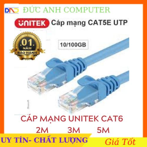 Cáp mạng Unitek CAT6 2M/ 3M /5M YC810/YC811/YC812 LÕI ĐỒNG full box – hãng phân phối bảo hành 12 tháng, 1 ĐỔI 1