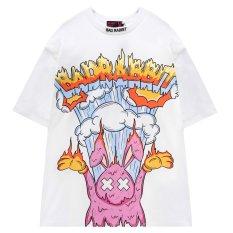 Bad Rabbit Áo thun Nam Nữ 100% Cotton RABBIT BURN