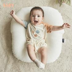 Gối chống trào ngược cho bé Rototo bebe, gối chữ C cao cấp nhập khẩu 100% Hàn Quốc chất liệu Ripple nhăn thoáng mát