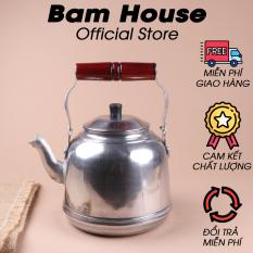 Ấm nhôm đun trà và nước Bam House dung tích 2L5 cao cấp AD01 – Bam House