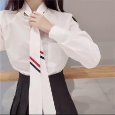 Áo sơ mi nữ tay dài kèm cà vạt