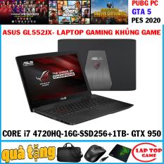 [Nhập ELMAR31 giảm 10% tối đa 200k đơn từ 99k]Laptop Gaming Asus Rog GL552JX Core i7 4720HQRAM 16G SSD256G+ HDD 1TB VGA NVIDIA GTX 950M màn 15.6 in FHD 1920*1080