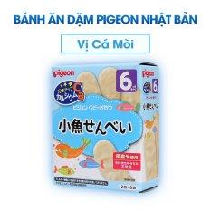 Bánh ăn dặm Pigeon Nhật Bản Vị Cá Mòi cho bé từ 6 tháng tuổi date tháng 6/2021