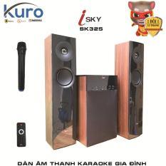 Dàn karaoke gia đình – Dàn âm thanh khủng kết nối Tivi , iphone, ipad, smartphone Hát karaoke – loa vi tính cỡ lớn âm thanh Hifi siêu Bass có kết nối Bluetooth nghe nhạc USB thẻ nhớ Isky – SK325 (Tặng kèm Micro không dây)