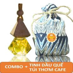 ComBo Túi Thơm Cà Phê + Tinh Dầu Quế