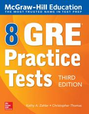 McGraw-Hill Education 8 GRE Practice Tests, Third Edition 3rd Edition