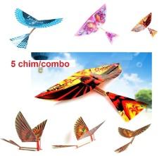 Combo chim dây thun vỗ cánh tự bay Ornithopter Birds (tùy chọn 2 chim hoặc 5 chim) (KN063) – Luân Air Models