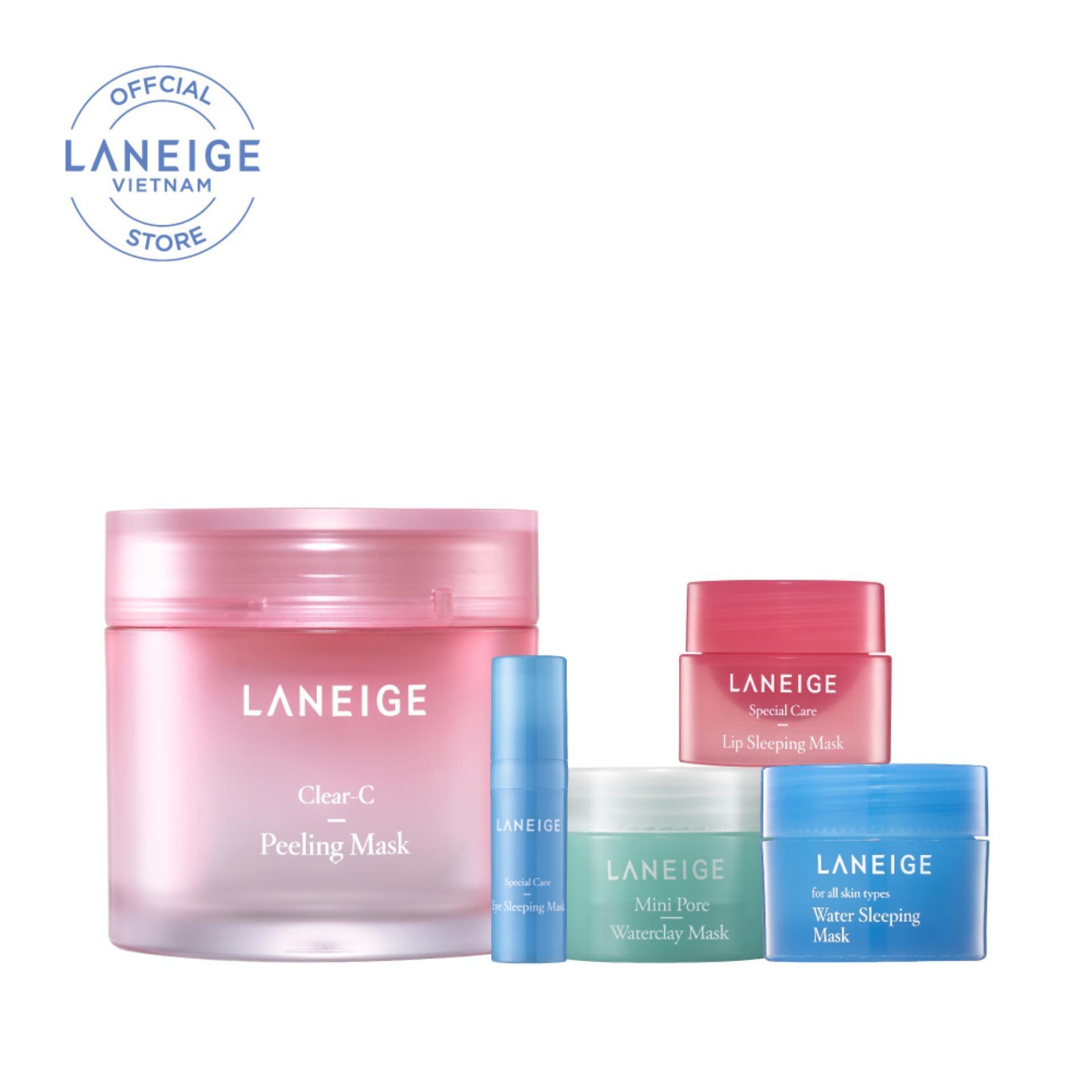 Combo Top 5 mặt nạ dưỡng da ngày hè Laneige Clear-C Peeling Mask Collection