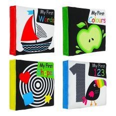 Bộ sách vải kích thích thị giác set 4 cuốn