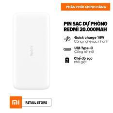 [HÀNG CHÍNH HÃNG – ĐỘC QUYỀN LAZADA] Sạc dự phòng Xiaomi Redmi 20.000mAh – Sạc nhanh Max 18W – Input: Micro USB & Type-C / Output: USB-A x2