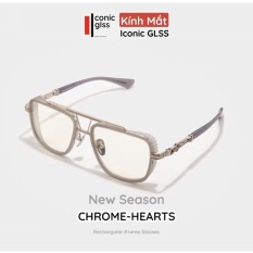 Gọng kính cận CHROME HEARTS nam nữ chất liệu Titanium cao cấp lens giả cận thời trang châu âu