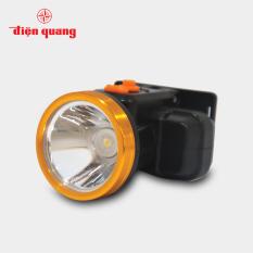 Đèn pin đội đầu Điện Quang ĐQ PFL16 R BLY WW (Pin sạc Lithium, Đen – Vàng, 2.5W, warmwhite)