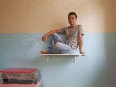 bàn gấp treo tường màu trắng 50-80cm