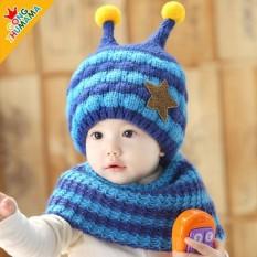 Bộ mũ nón len kèm khăn ống cổ hình ốc, sản phẩm tốt với chất lượng và độ bền cao, cam kết giống như hình