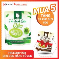[MUA 5 TẶNG CÀ PHÊ SỮA] Bột matcha sữa tốt cho sức khỏe Light Coffee, sử dụng Matcha Nhật không hương liệu Gói 50g