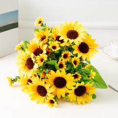 Cành Hoa hướng dương,hoa lụa, hoa giả trang trí ( nhiều loại)