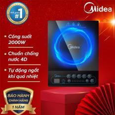 Bếp điện từ cơ Midea MI-B2016DA kính chịu nhiệt màn hình LED đa chức năng có chức năng hẹn giờ 50/60Hz – Hàng phân phối chính hãng bảo hành 1 năm
