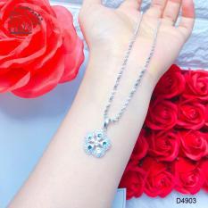Dây bạc nữ, dây dạng xoắn mặt hoa bạc bền màu thời trang Orin D4903