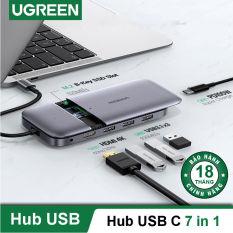 Bộ chuyển USB type C ra 3 cổng USB 3.1 Gen2 + HDMI + PD 100W + cấp nguồn DC + SSD M.2 NGFF Docking Station CM296 70449