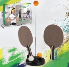 [Lấy mã giảm thêm 30%]Vợt Bóng Bàn Phản Xạ Lắc Lư bóng bàn luyện phản xạ bộ đồ chơi bóng phản xạ (Kèm 2 vợt + 4 quả bóng)