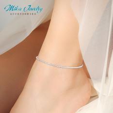 Lắc chân bạc dãi hoa nhỏ xinh đơn giản mẫu mới 2019 phụ kiện trang sức thời trang trend hàn nhật – mika