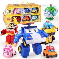 Xe bus 6 đội bay Poli robocar biến hình