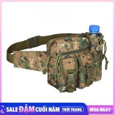 Túi đeo hông chiến thuật, túi đeo du lich phượt hình chai nước đa năng