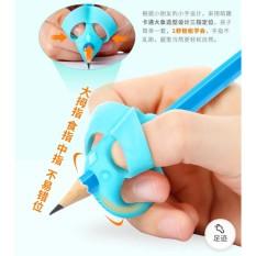 Dụng cụ xỏ ngón cầm bút silicon chỉnh tư thế cầm bút cho bé tập viết