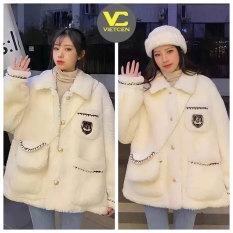 Áo khoác lông nữ kèm túi xách trắng tiểu thư sanh chảnh LADDY xinh đẹp ulzzang – VietcentreVN