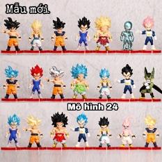 [MẪU MỚI] set com bo 21 CON Mô hình chibi đồ chơi Dragon Ball Songoku gohan broly super dragonball vegeta gogeta goku dragonball frieze cell bảy viên ngọc rồng su lu cu MO HINH DRAGON BALL