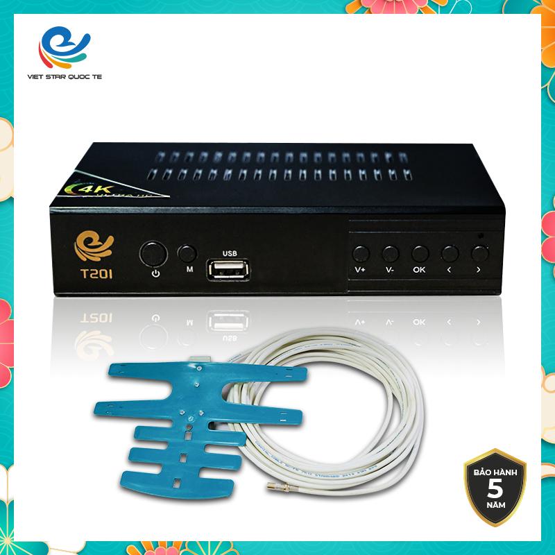 Đầu thu kỹ thuật số DVB T2 Telebox, Đầu thu mặt đất, Đầu thu truyen hinh mat dat bảo hành chính hãng 12 tháng