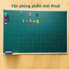 Bảng từ xanh (ô ly) Hàn Quốc 80*120cm ( Tặng nam châm bảng, bông lau, hộp phấn)